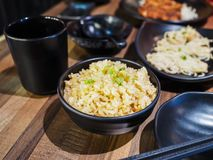 Fried rice made with garlic. In Japanese style Stock Photography