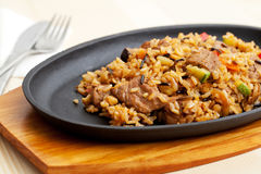 Fried Rice with meat Stock Photography