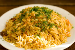 Fried rice with meat Stock Image