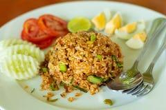 Fried Rice med Tom Yum Royaltyfria Bilder
