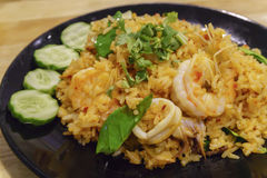 Fried Rice mit Paprika, Tom Yum Stockfoto