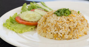 Fried rice. With mix vegetable and crab on dish Stock Photography