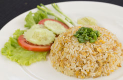 Fried rice. With mix vegetable and crab on dish Royalty Free Stock Images