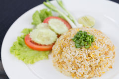 Fried rice. With mix vegetable and crab on dish Stock Photo