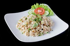Fried rice with mushrooms Royalty Free Stock Photography