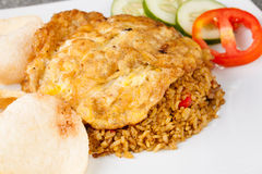 Fried Rice Nasi Goreng Indonesia Traditional Food Stock Photos