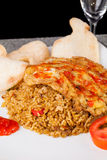 Fried Rice Nasi Goreng Indonesia Traditional Food Stock Image