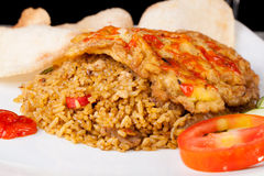 Fried Rice Nasi Goreng Indonesia Traditional Food Stock Photo