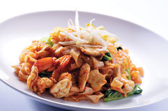 Fried rice noodles Stock Photo