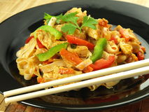 Fried rice noodles Stock Image