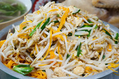 Fried rice noodles with bean sprouts. Stock Image