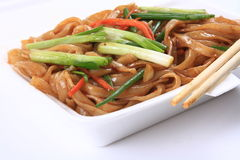Fried rice noodles Royalty Free Stock Images