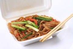 Fried rice noodles Stock Images