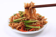 Fried rice noodles Royalty Free Stock Image