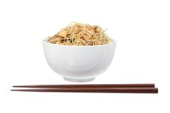Fried Rice Noodles Stock Photography