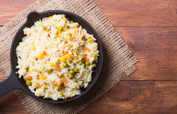 Fried rice in pan Stock Photography
