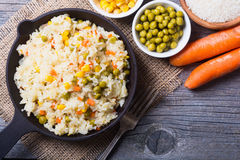 Fried rice in pan Royalty Free Stock Photography