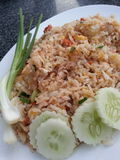 Fried rice. People who eat a diet of Thailand since childhood Stock Photos