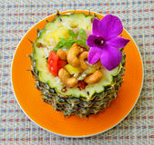 Fried rice in pineapple Royalty Free Stock Photography