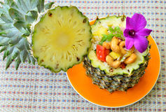 Fried rice in pineapple Royalty Free Stock Images