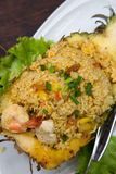 Fried rice. In pineapple shell Stock Photography