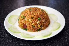 Fried rice on a plate Royalty Free Stock Photos