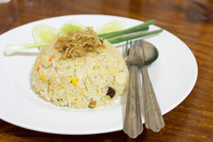 Fried Rice. On a plate Stock Photo