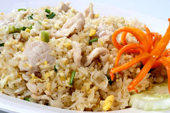 Fried rice pork, chicken, beef Royalty Free Stock Photo