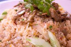 Fried rice with pork. And eggs Royalty Free Stock Images