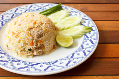 Fried rice with pork - Thai food Stock Photos