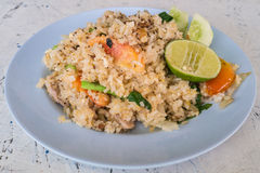 Fried rice with pork. Thai food Stock Images