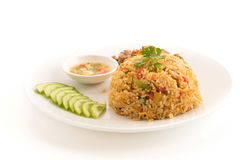 Fried rice with pork Stock Image