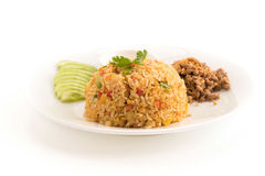 Fried rice with pork Stock Photography