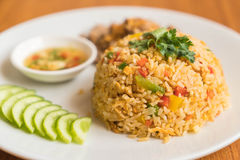Fried rice with pork Royalty Free Stock Images
