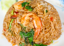 fried rice with prawn Royalty Free Stock Photo