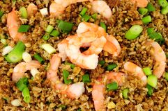 Fried Rice With Prawns Background Royalty Free Stock Image