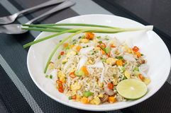 Fried rice with salted fish Stock Photography
