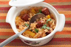 Fried rice with sausage Royalty Free Stock Photos