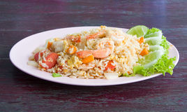 Fried rice with seafood Stock Photos