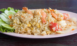 Fried rice with seafood Royalty Free Stock Image