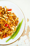 Fried rice with seafood. Asian cuisine. Royalty Free Stock Image