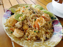 Fried rice seafood Royalty Free Stock Photos