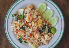 Fried rice with seafood Royalty Free Stock Photography