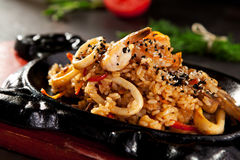 Fried Rice with Seafood Royalty Free Stock Photos