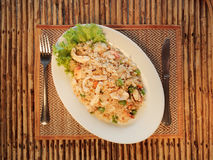Fried rice with seafood Stock Images