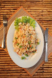 Fried rice with seafood Stock Photo