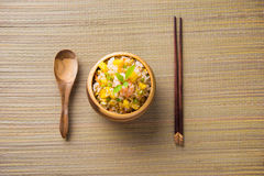 Fried rice served on a bowl Stock Photo