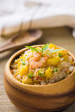 Fried rice served on a bowl Stock Images