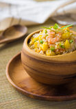Fried rice served on a bowl Royalty Free Stock Photos
