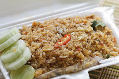 Fried rice with shellfish Stock Photo
